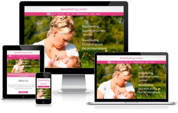 Breastfeeding London website screenshot