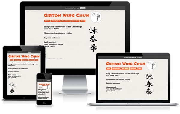 Girton wingchun website screenshot