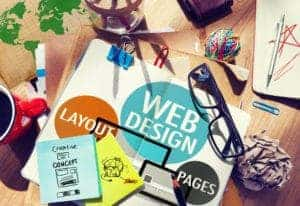 Photo showing web design process